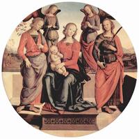 Мадонна на троне с младенцем и двумя святыми
