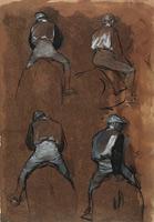 Четыре эскиза жокея (Э. Дега, 1866 г.)