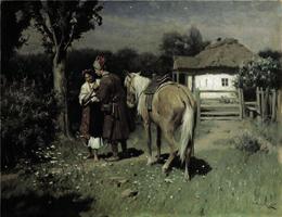 Украинская ночь. Свидание. Пимоненко Н.К. 1905 г.