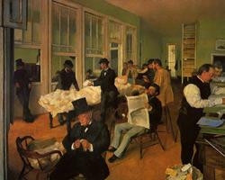 Хлопковая биржа в Новом Орлеане (Э. Дега, 1873 г.)