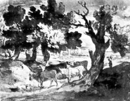 Пейзаж с пастухом и стадом (Т. Гейнсборо, 1770-е г.)