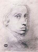 Этюд для автопортрета (Э. Дега, 1855 г.)