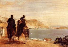 Прогулка у моря (Э. Дега, ок. 1860 г.)