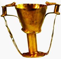 Кубок Нестора. Листовое золото. Из гробницы IV круга А в Микенах