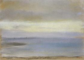 Морской пейзаж, закат (Э. Дега, ок. 1869 г.)