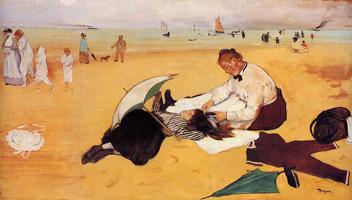 Пляжная сцена (Э. Дега, 1869-1870 гг.)