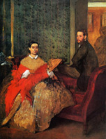 Эдмонд и Тереза Морбилли (Э. Дега, ок. 1865 г.)