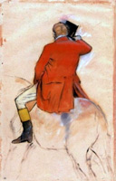 Всадник в красном сюртуке... (Э. Дега)