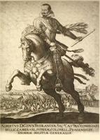 Герцог Валленштейн на коне