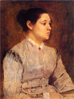 Портрет молодой женщины (Э. Дега)