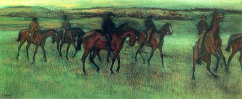 Обкатка (Э. Дега, 1875-1876 гг.)