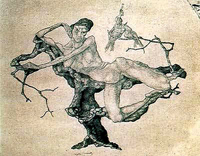 Девушка на дереве (Пауль Клее, 1903 г.)