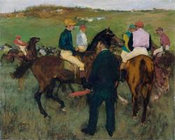 Скаковые лошади (Э. Дега, 1871-1872 гг.)