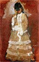 Женщина с биноклем (Э. Дега)