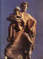 Зевс, похищающий Ганимеда (Терракота. 470 год до н.э.)