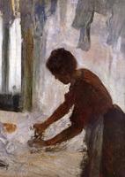 Женщина гладит (Силуэт) (Э. Дега, 1873 г.)