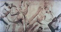 Скопас. Битва с амазонками (Рельефный фриз Галикарнасского Мавзолея. IV в. до н.э.)