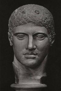 Дискобол (Голова. Мирон. Около 450 г. до н. э. Мраморная римская копия.Рим. Музей Терм)