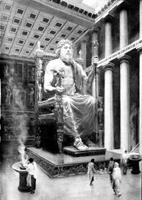Статуя Зевса Олимпийского. Фидий. 435 г до н.э.