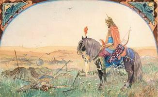 Иллюстрация к былине Илья Муромец (Н.Н. Каразин, 1906 г.)