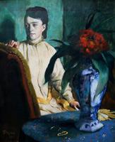 Женщина с китайской вазой (Э. Дега, 1872 г.)