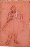 Балерина, примеряющая костюм (Э. Дега)
