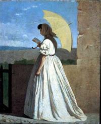 Чтение (Федерико Дзандоменеги, 1865)