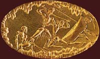 Золотой перстень. Национальный археологический музей, Афины