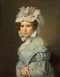 Портрет дамы в голубом платье (К.А. Иенсен)