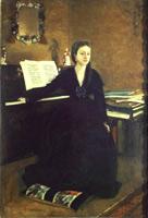 Мадам Камю за Фортепьяно (Э. Дега, 1869 г.)