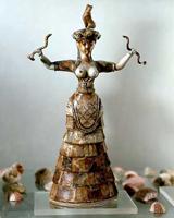 Богиня со змеями (Крит, 1700 г. до н.э.)
