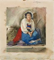 Итальянская девочка (Э. Дега, ок. 1856 г.)