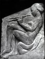 Трон Людовизи. Девушка, играющая на флейте. Мрамор. Около 470 г. до н.э. Рим. Музей Терм