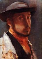 Автопортрет в мягкой шляпе (Э. Дега)