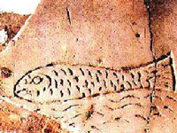 Символическое древлехристианское изображение Рыбы из римских катакомб