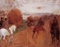 Всадники на дороге (Э. Дега, 1864-1868 гг.)