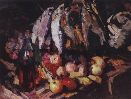 Рыбы вино и фрукты (Коровин К.А.)