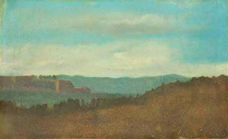 Пейзаж, эффект вечера (Э. Дега, ок 1857-1858 гг.)