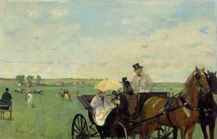 На гонках в сельской местности (Э. Дега, 1869 г.)