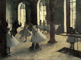Репетиция танца в Студии (Э. Дега, 1870-1873 гг.)