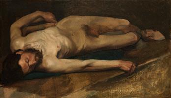 Обнаженный мужчина (Э. Дега, 1856 г.)