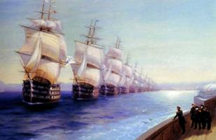 Маневры Черноморского флота в 1850 году. И. Айвазовский. 1886.