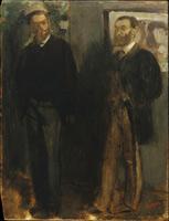 Два мужчины (Э. Дега, 1865-1869 гг.)