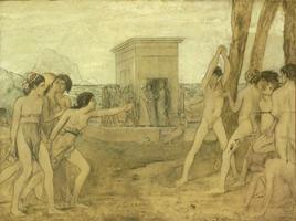 Спартанские девушки вызывают на состязание юношей (Э. Дега, ок. 1860 г.)