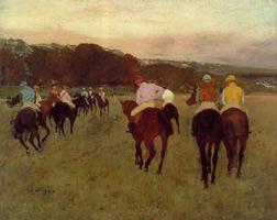 Скачки в Лонгшамп (Э. Дега, 1871 г.)