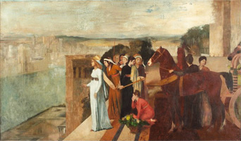 Семирамида строит Вавилон (Э. Дега, ок. 1861 г.)
