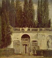 Сад Виллы Медичи в Риме (Диего Веласкес, 1630 г.)