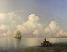 Вечер на море (И.К Айвазовский 1871)