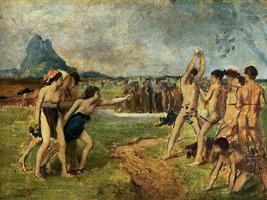 Юные спартанцы тренируются (Э. Дега, ок. 1860 г.)
