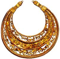 Золотая царская пектораль из кургана Толстая Могила. V в. до н.э.